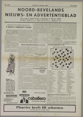 Noord-Bevelands Nieuws- en advertentieblad 1968-09-21