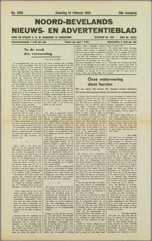 Noord-Bevelands Nieuws- en advertentieblad 1953-02-14