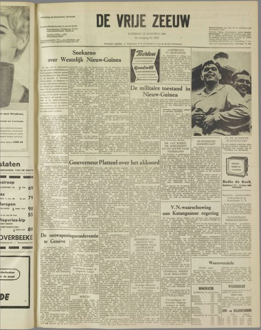 de Vrije Zeeuw 1962-08-18