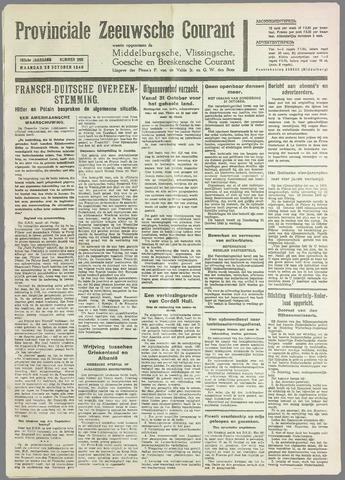Provinciale Zeeuwse Courant 1940-10-28