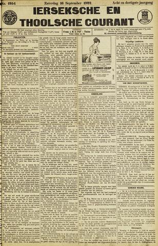 Ierseksche en Thoolsche Courant 1922-09-16
