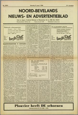 Noord-Bevelands Nieuws- en advertentieblad 1958-03-08