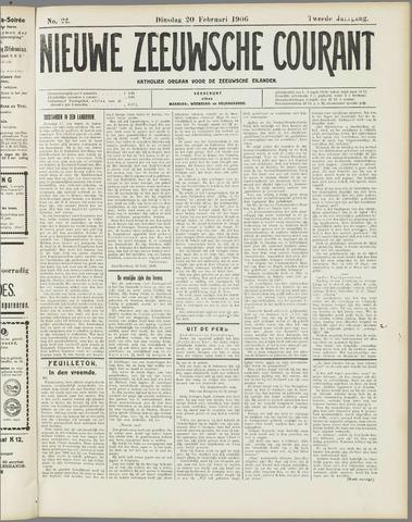 Nieuwe Zeeuwsche Courant 1906-02-20