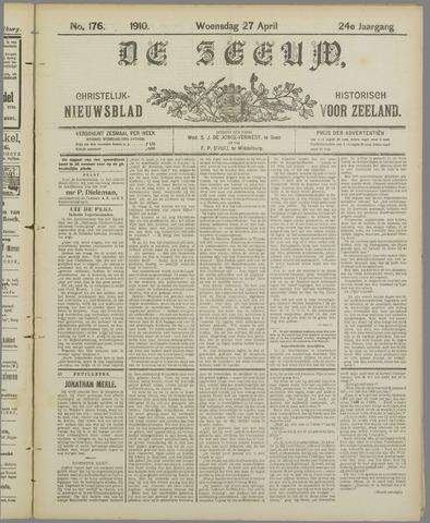 De Zeeuw. Christelijk-historisch nieuwsblad voor Zeeland 1910-04-27