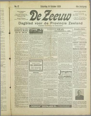 De Zeeuw. Christelijk-historisch nieuwsblad voor Zeeland 1929-10-19