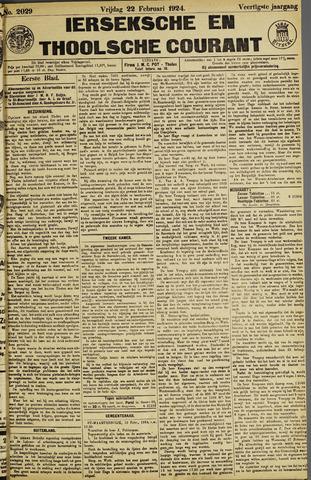 Ierseksche en Thoolsche Courant 1924-02-22