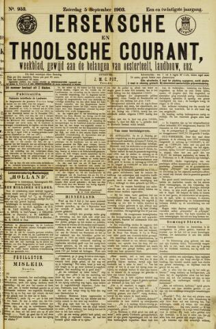Ierseksche en Thoolsche Courant 1903-09-05