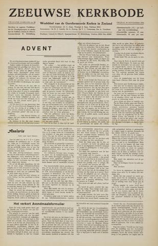 Zeeuwsche kerkbode, weekblad gewijd aan de belangen der gereformeerde kerken/ Zeeuwsch kerkblad 1956-11-30