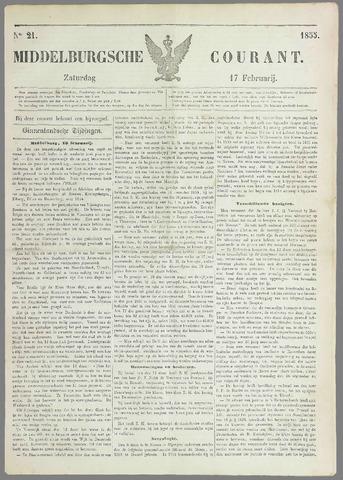 Middelburgsche Courant 1855-02-17