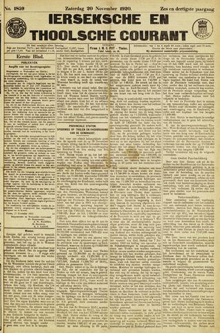 Ierseksche en Thoolsche Courant 1920-11-20