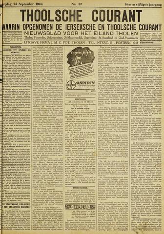 Ierseksche en Thoolsche Courant 1934-09-14