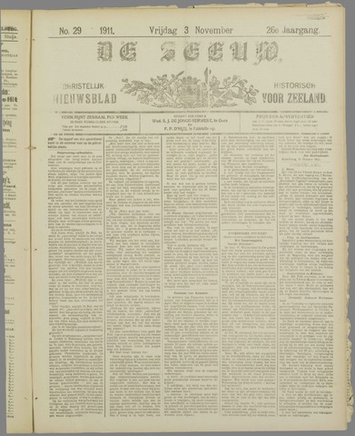 De Zeeuw. Christelijk-historisch nieuwsblad voor Zeeland 1911-11-03
