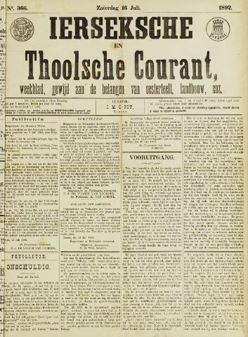Ierseksche en Thoolsche Courant 1892-07-16