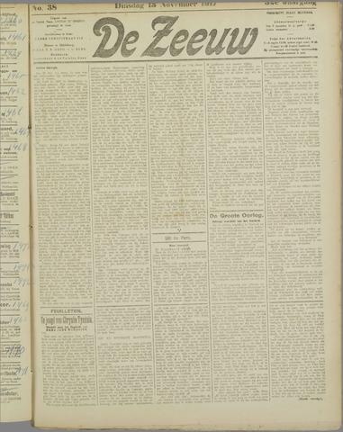 De Zeeuw. Christelijk-historisch nieuwsblad voor Zeeland 1917-11-13