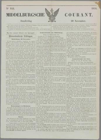 Middelburgsche Courant 1854-11-30