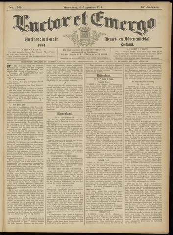 Luctor et Emergo. Antirevolutionair nieuws- en advertentieblad voor Zeeland / Zeeuwsch-Vlaanderen. Orgaan ter verspreiding van de christelijke beginselen in Zeeuwsch-Vlaanderen 1915-08-04