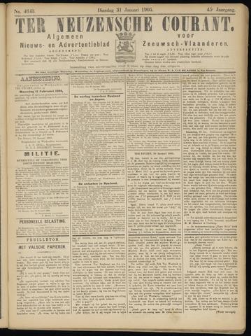 Ter Neuzensche Courant. Algemeen Nieuws- en Advertentieblad voor Zeeuwsch-Vlaanderen / Neuzensche Courant ... (idem) / (Algemeen) nieuws en advertentieblad voor Zeeuwsch-Vlaanderen 1905-01-31