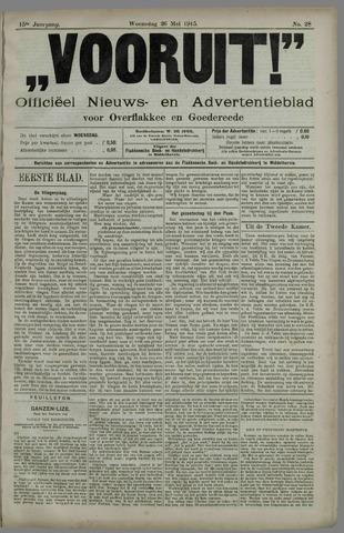 """""""Vooruit!""""Officieel Nieuws- en Advertentieblad voor Overflakkee en Goedereede 1915-05-26"""