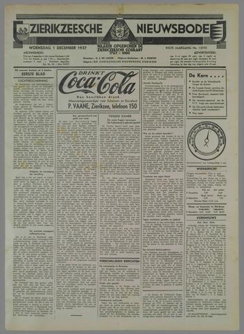 Zierikzeesche Nieuwsbode 1937-12-01
