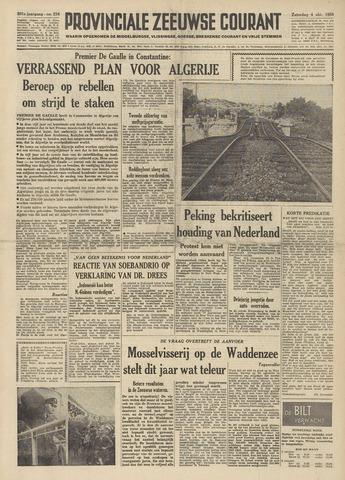 Provinciale Zeeuwse Courant 1958-10-04