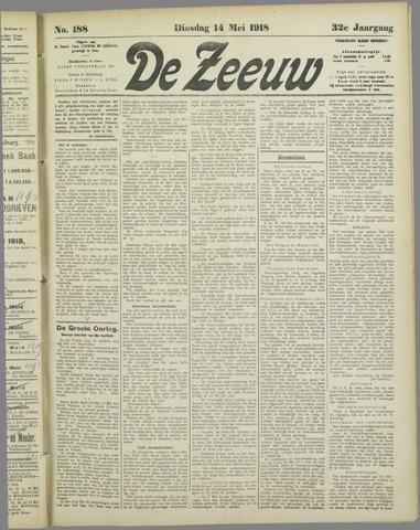 De Zeeuw. Christelijk-historisch nieuwsblad voor Zeeland 1918-05-14