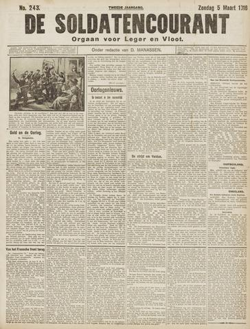 De Soldatencourant. Orgaan voor Leger en Vloot 1916-03-05