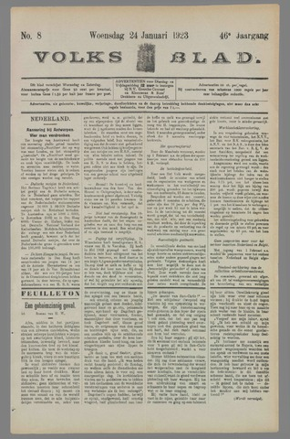 Volksblad 1923-01-24