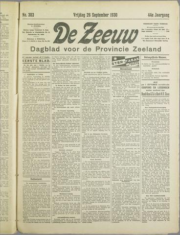 De Zeeuw. Christelijk-historisch nieuwsblad voor Zeeland 1930-09-26