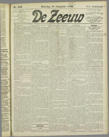 De Zeeuw. Christelijk-historisch nieuwsblad voor Zeeland 1920-08-10