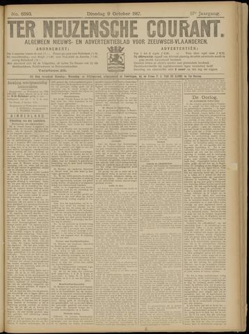 Ter Neuzensche Courant. Algemeen Nieuws- en Advertentieblad voor Zeeuwsch-Vlaanderen / Neuzensche Courant ... (idem) / (Algemeen) nieuws en advertentieblad voor Zeeuwsch-Vlaanderen 1917-10-09