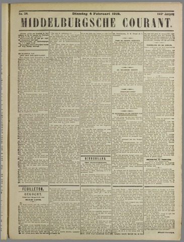Middelburgsche Courant 1919-02-04