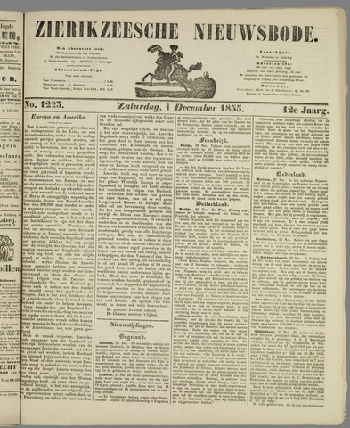 Zierikzeesche Nieuwsbode 1855-12-01