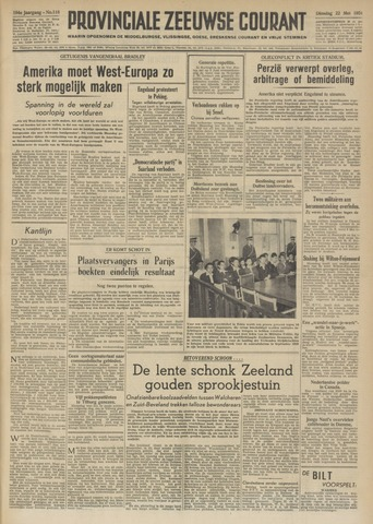 Provinciale Zeeuwse Courant 1951-05-22