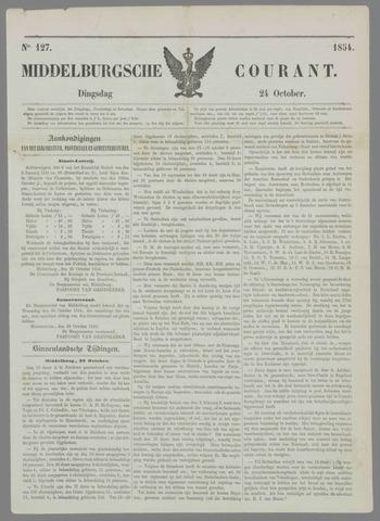 Middelburgsche Courant 1854-10-24