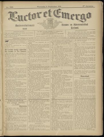 Luctor et Emergo. Antirevolutionair nieuws- en advertentieblad voor Zeeland / Zeeuwsch-Vlaanderen. Orgaan ter verspreiding van de christelijke beginselen in Zeeuwsch-Vlaanderen 1916-09-06