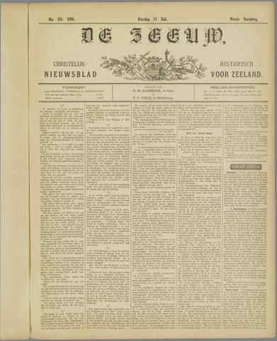 De Zeeuw. Christelijk-historisch nieuwsblad voor Zeeland 1896-07-14