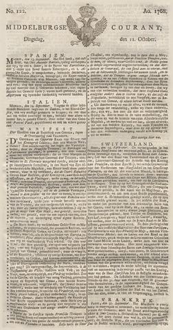 Middelburgsche Courant 1768-10-11