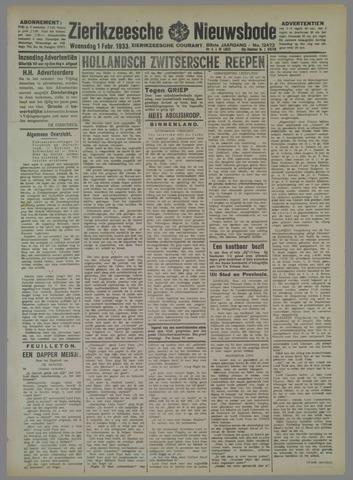 Zierikzeesche Nieuwsbode 1933-02-01