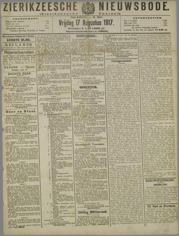 Zierikzeesche Nieuwsbode 1917-08-17