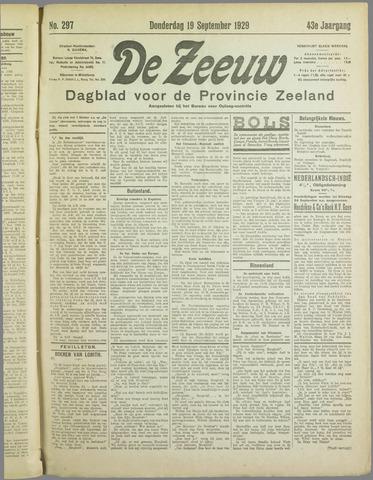 De Zeeuw. Christelijk-historisch nieuwsblad voor Zeeland 1929-09-19