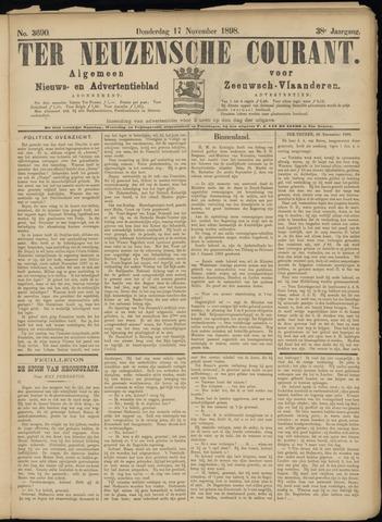 Ter Neuzensche Courant. Algemeen Nieuws- en Advertentieblad voor Zeeuwsch-Vlaanderen / Neuzensche Courant ... (idem) / (Algemeen) nieuws en advertentieblad voor Zeeuwsch-Vlaanderen 1898-11-17