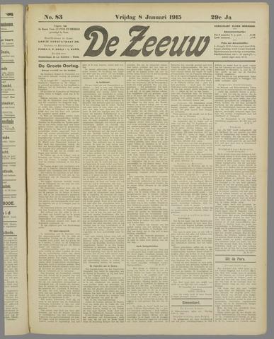 De Zeeuw. Christelijk-historisch nieuwsblad voor Zeeland 1915-01-08