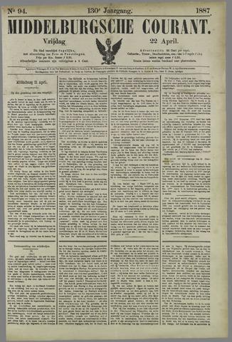 Middelburgsche Courant 1887-04-22