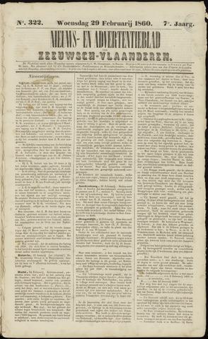 Ter Neuzensche Courant. Algemeen Nieuws- en Advertentieblad voor Zeeuwsch-Vlaanderen / Neuzensche Courant ... (idem) / (Algemeen) nieuws en advertentieblad voor Zeeuwsch-Vlaanderen 1860-02-29