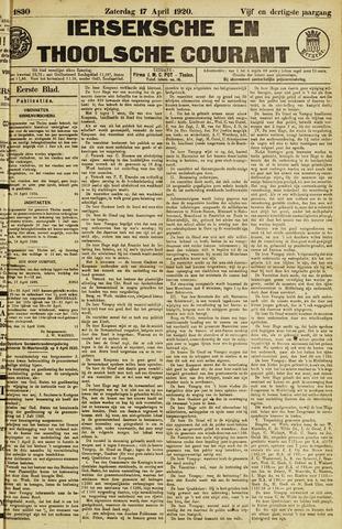 Ierseksche en Thoolsche Courant 1920-04-17