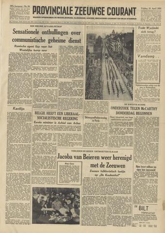 Provinciale Zeeuwse Courant 1954-04-23
