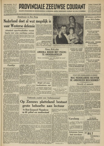 Provinciale Zeeuwse Courant 1951-01-12