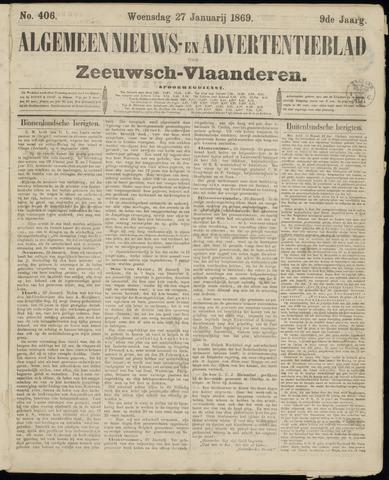 Ter Neuzensche Courant. Algemeen Nieuws- en Advertentieblad voor Zeeuwsch-Vlaanderen / Neuzensche Courant ... (idem) / (Algemeen) nieuws en advertentieblad voor Zeeuwsch-Vlaanderen 1869-01-27