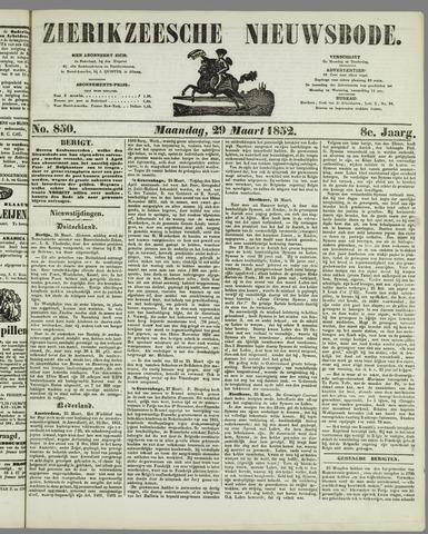 Zierikzeesche Nieuwsbode 1852-03-29