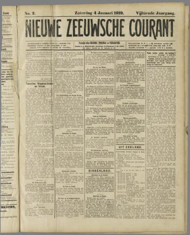 Nieuwe Zeeuwsche Courant 1919-01-04